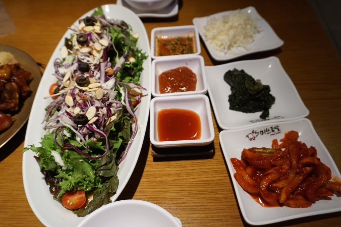 Myth Jokbal Free salad and 3 types of sauce