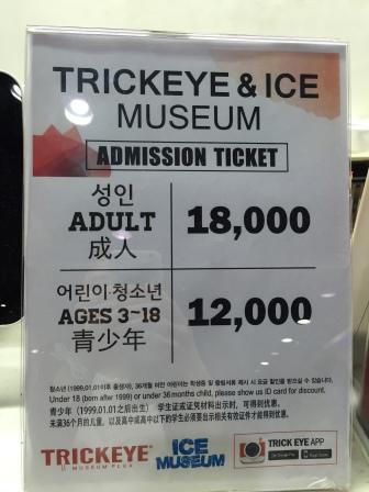 Trick eye museum ticket price
