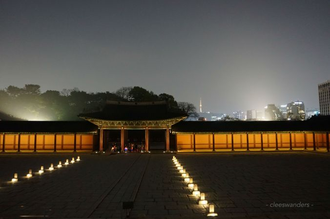 Changdeokgung palace at night